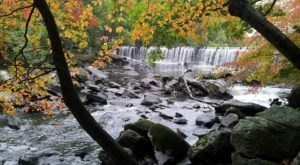 Fall Is The Best Time To Visit The Blackstone Gorge Waterfall In Massachusetts
