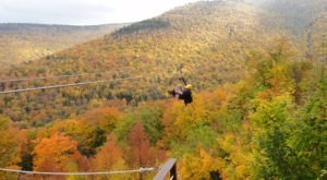 Take A Ride On The Longest Zipline In New York At Hunter Mountain