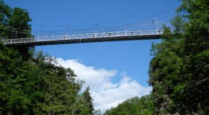 Go For An Exciting Walk Along New York's Fall Creek Suspension Bridge