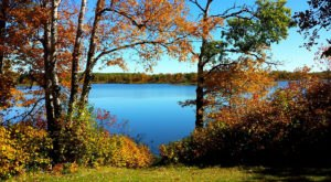 Lake Metigoshe Is A Beautiful Lake Nestled In The North Dakota Mountains