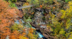 Walk Across The Tallulah Gorge Suspension Bridge For A Gorgeous View Of Georgia's Fall Colors