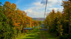 Enjoy The Most Stunning Fall Foliage Views Near Buffalo On The Holiday Valley Chairlift