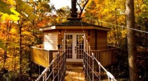 Experience The Fall Colors With A Stay At The Holly Rock Treehouse In West Virginia