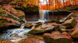 The Blue Hen Falls In Ohio Will Soon Be Surrounded By Beautiful Fall Colors