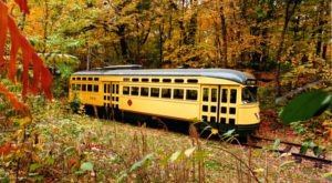 Take The Como-Harriet Trolley Ride In Minnesota To Experience The Colorful Changing Leaves