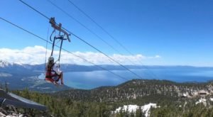 Take A Ride On The Longest Zipline In Northern California At Heavenly Mountain