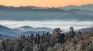 Newfound Gap Is One Of The Most Spectacular Places To Watch The Sun Rise In Tennessee
