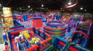 Take A Trip To Jumpin Fun Inflata Park, The 15,000 Square Foot Inflatable Playground in Florida
