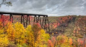 Walk Across Kinzua Bridge Skywalk For A Gorgeous View Of Pennsylvania's Fall Colors