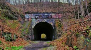 Explore A Haunted Tunnel At The Spooky Midnight At Moonville Festival In Ohio