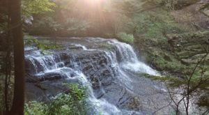 You Can Practically Drive Right Up To The Beautiful Springfield Falls Near Pittsburgh