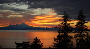 Take In Sunsets Over An Active Volcano At Alaska's Breathtaking Anchor River Lodge