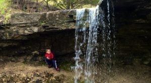 Alcove Springs Trail In Kansas Will Lead You Straight To A Waterfall