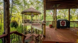 The Double Decker Gazebo At Indiana's Luxurious Woodland Resort, Stone Creek Cabin Retreat, Is One-Of-A-Kind