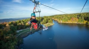 Zipline Through A Canopy Of Colorful Changing Leaves At Mountain Creek Zipline Tours In New Jersey