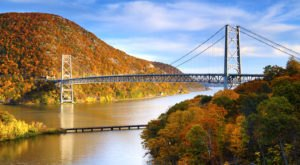 Walk Across The Bear Mountain Bridge For A Gorgeous View Of New York's Fall Colors