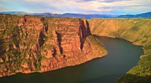Utah's Flaming Gorge Is A Beautifully Brilliant Red