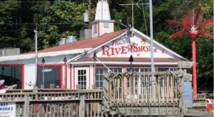 Gaze Out Over The Water And Enjoy Fresh Crab Cakes From Tim's Rivershore Restaurant, A Great Local Find In Virginia