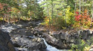 You Can Practically Drive Right Up To The Beautiful Coos Canyon Waterfall In Maine