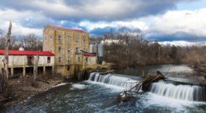 You Can Practically Drive Right Up To The Beautiful Weisenberger Mill Waterfall In Kentucky