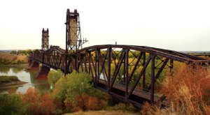 Walk Across The Fairview Bridge For A Gorgeous View Of North Dakota's Fall Colors