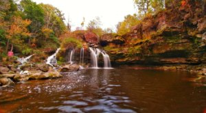 The Akron Falls Near Buffalo Will Soon Be Surrounded By Beautiful Fall Colors