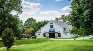 One Of The Largest Wooden Structures In North America Is An Iconic Horse Barn In Kentucky