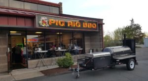 The Plates Are Piled High With Barbeque At The Delicious Pig Rig BBQ In Connecticut