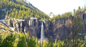 The Bridal Veil Falls In Colorado Will Soon Be Surrounded By Beautiful Fall Colors