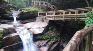 Sabbaday Falls Is A Beginner-Friendly Waterfall Trail In New Hampshire That's Great For A Family Hike