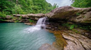 Swim Underneath The Falls Along The Kings River In Arkansas