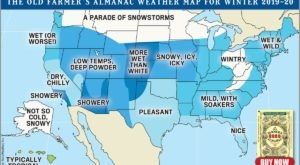 The Farmers Almanac Predicts Winter 2020 In Texas Will Have Chilly Temps And Average Precipitation