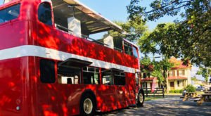 Sip On Local Wine On A British Double Decker Bus When You Visit The Bubble Decker In Marshall, Virginia