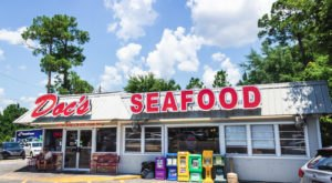 The Plates Are Piled High With Seafood At The Delicious Doc's Seafood Shack & Oyster Bar In Alabama