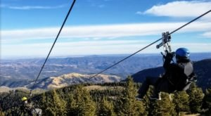 Take A Ride On The Longest Zipline In New Mexico At Ski Apache
