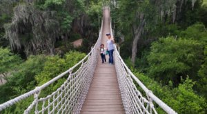 Hike Through A Cemetery, Whimsical Moss Trees, And A Suspension Bridge At Santa Ana Wildlife Refuge In Texas