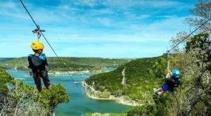 Take A Ride On The Longest Zipline In Texas At Lake Travis Zipline Adventures