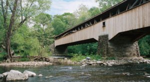 The Longest Covered Bridge In Pennsylvania, Academia Pomeroy Covered Bridge Is 278-Feet Long