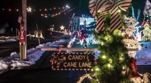 Plan A Visit Now To The Best Neighborhood Christmas Light Display In Pennsylvania At Candy Cane Lane