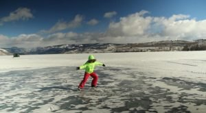 You'll Feel Like A Kid Again When You Go Ice Skating At Wyoming's Fremont Lake
