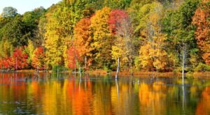 Visit Lake Glenville In North Carolina For A Positsively Beautiful View Of The Fall Colors