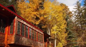 You'll Be Surrounded By Vibrant Fall Foliage When You Dine At Log Haven In Utah