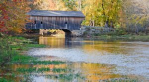 The Oldest Covered Bridge In Maine Has Been Around Since 1857