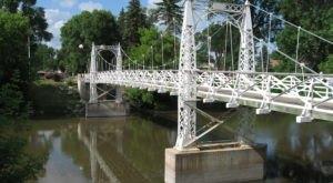Walk Across A 90-Foot Suspension Bridge At Valley City State University In North Dakota