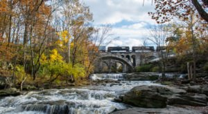 Berea Falls Near Cleveland Will Soon Be Surrounded By Beautiful Fall Colors