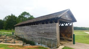 The Oldest Covered Bridge In Alabama, Coldwater Covered Bridge, Has Been Around Since 1850