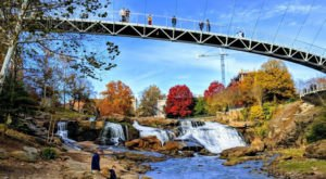 The Reedy River Falls In South Carolina Will Soon Be Surrounded By Beautiful Fall Colors