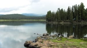 Hawley Lake Is A Beautiful Lake Nestled In The Arizona Mountains