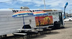 Delicious Tacos Can Be Found Aboard A Bus At La Carreta Mexican Food In Idaho