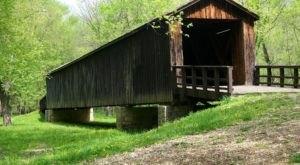 The Longest Covered Bridge In Missouri, Locust Creek Covered Bridge, Is 151 Feet Long